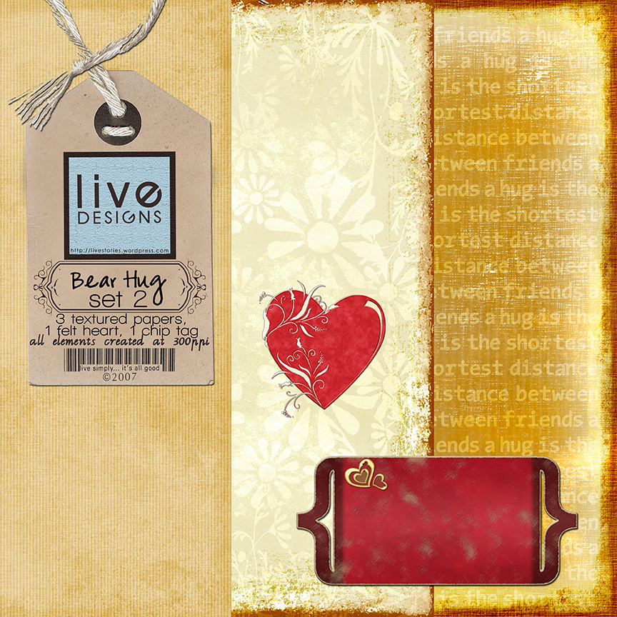 LivEdesigns Bear Hug Set2 Preview