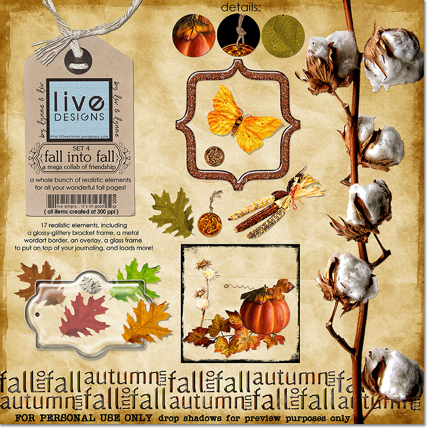 Fall into Fall Elements - Set 4