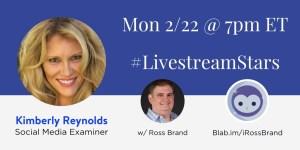 Kimberly Reynolds Ross Brand #LivestreamStars