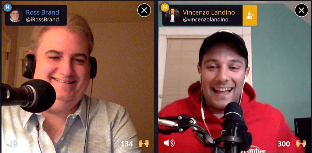 Ross Brand Vincenzo Landino Livestream Universe Stars