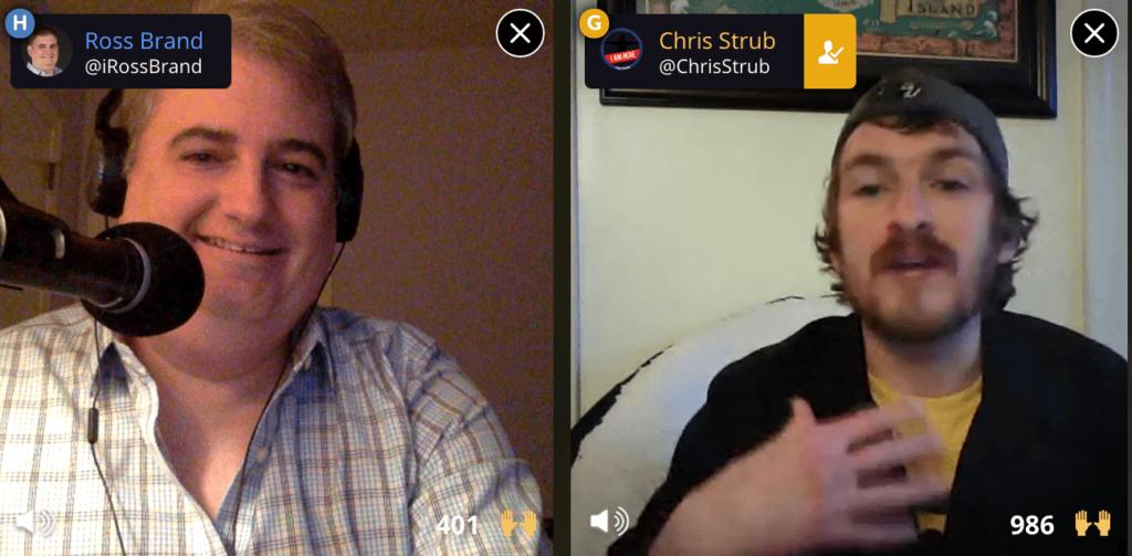 Livestream Universe Stars Ross Brand Chris Strub