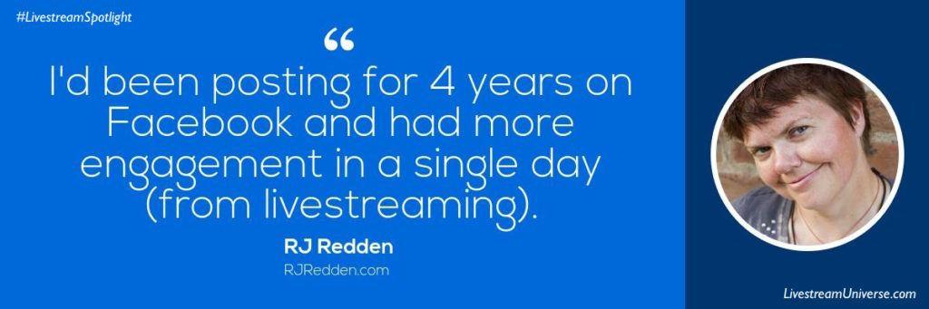 RJ Redden Quote Livestream Universe Spotlight