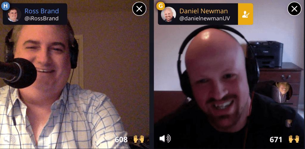 Ross Brand Daniel Newman Livestream Universe Stars