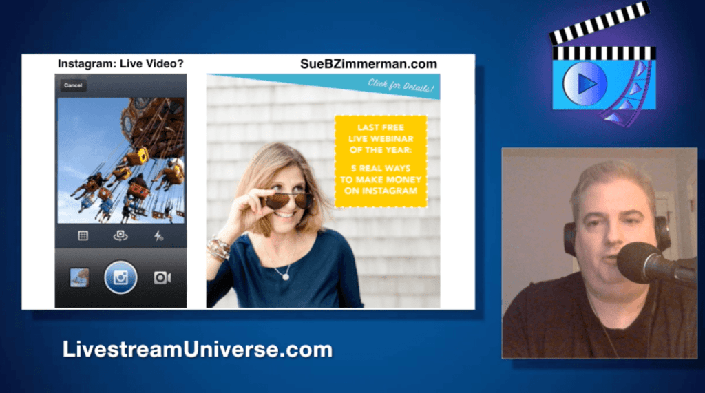 Sue B Zimmerman Instagram Ross Brand Livestream Universe