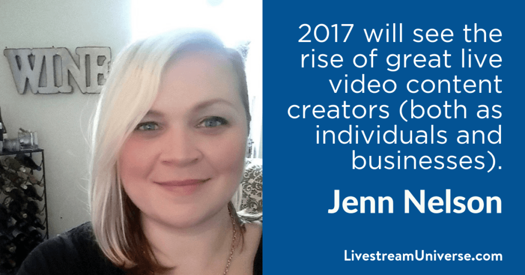 Jenn Nelson 2017 Prediction Livestream Universe