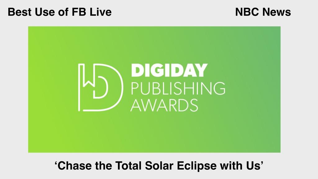 nbc news digiday awards facebook live
