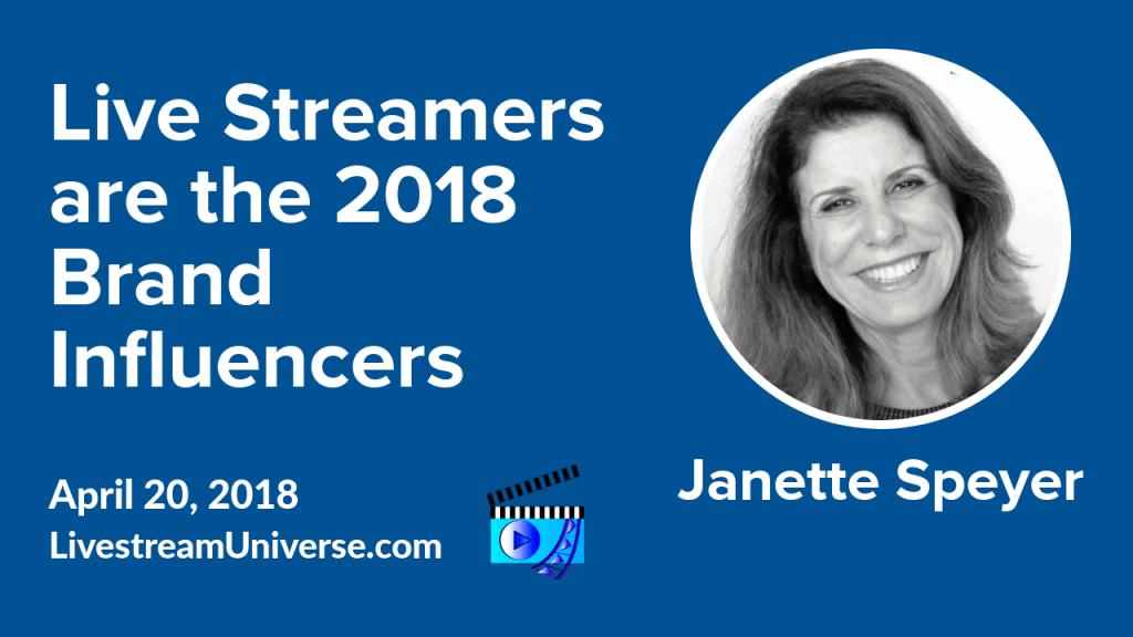 Janette Speyer Livestreamers Brand Ambassadors