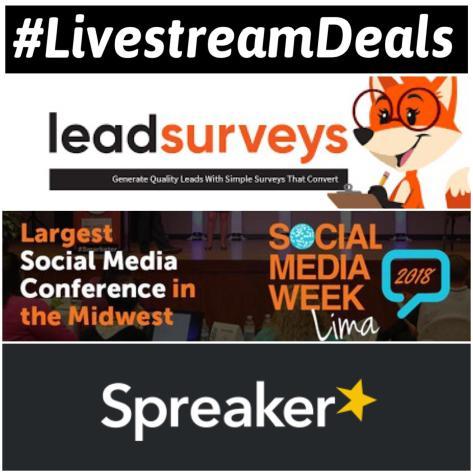 Livestream Deals Spreaker LeadSurveys SMWL18