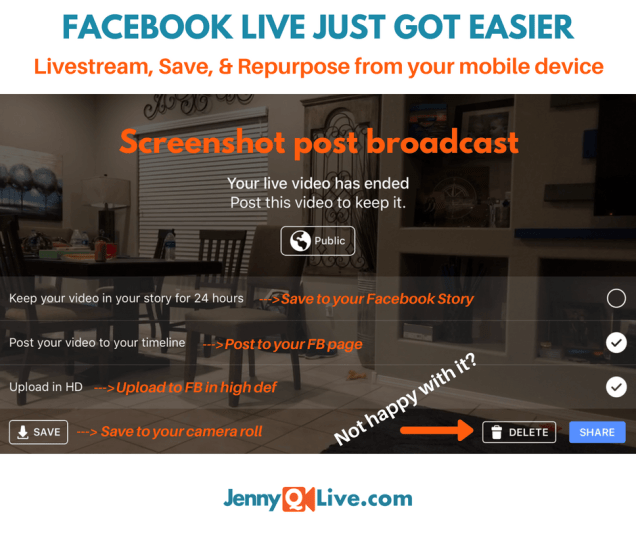 Jennifer Quinn JennyQ Facebook Live