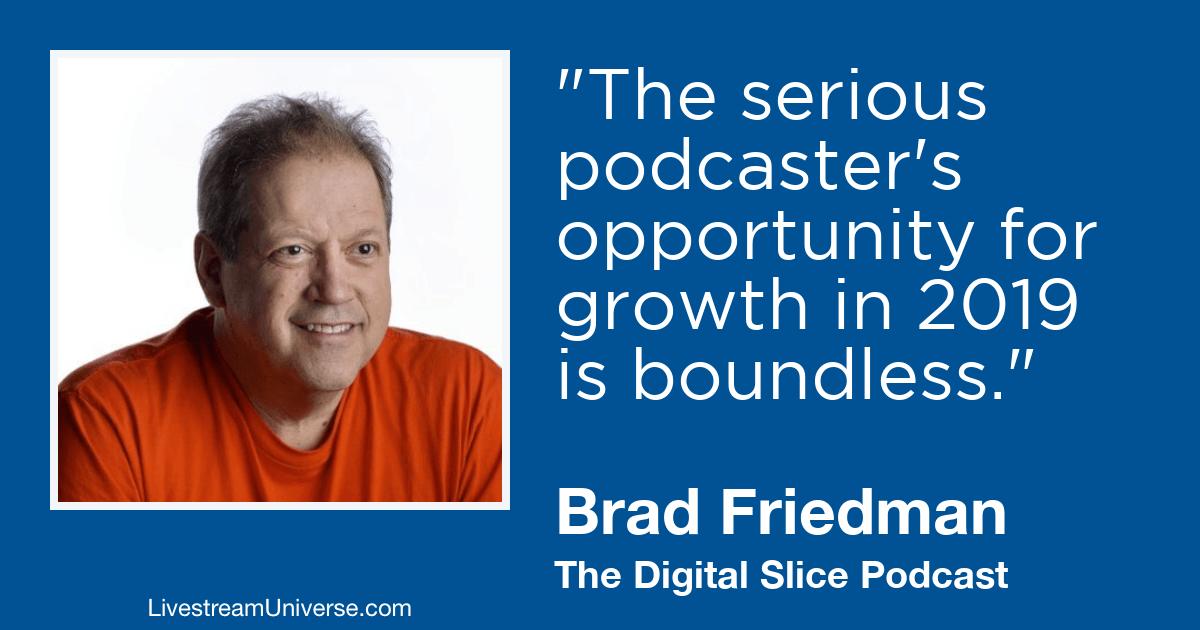 Brad Friedman livestream universe 2019 predictions
