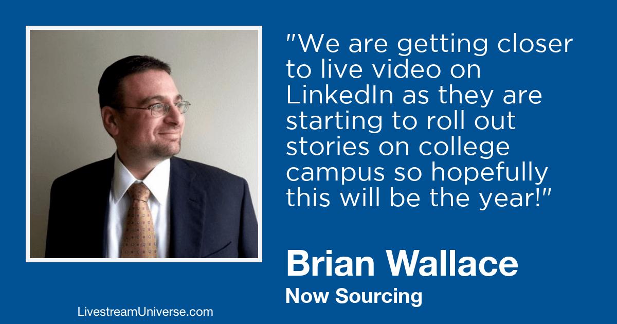 Brian Wallace livestream universe 2019 predictions