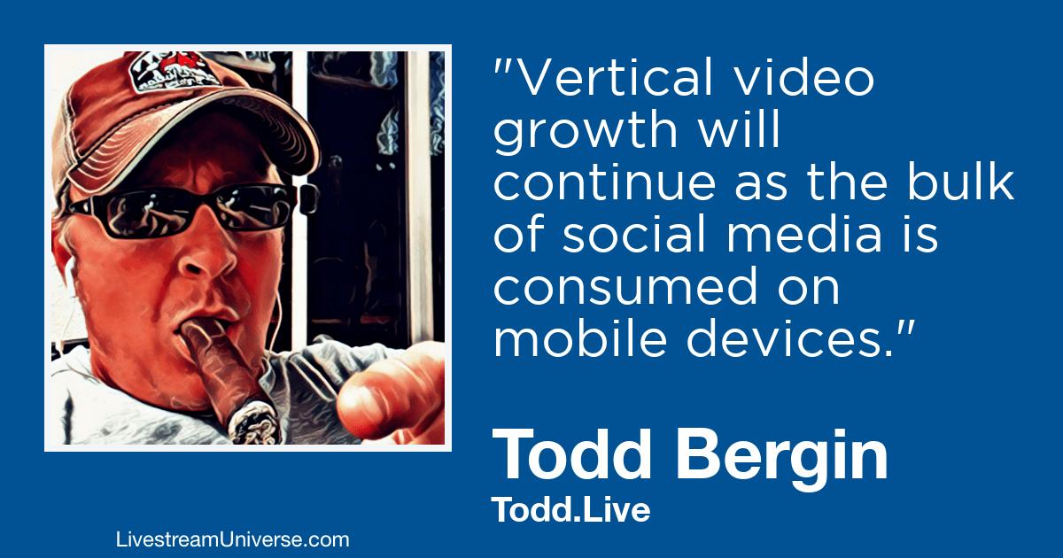 Todd Bergin 2019 Prediction livestream universe
