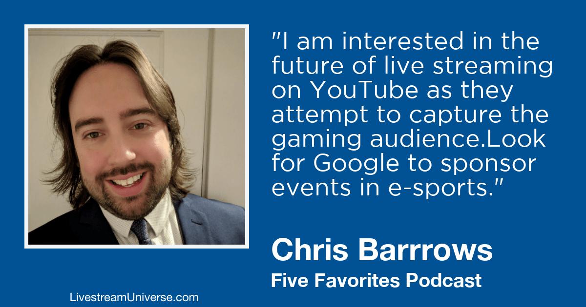 chris barrows livestream universe 2019 predictions