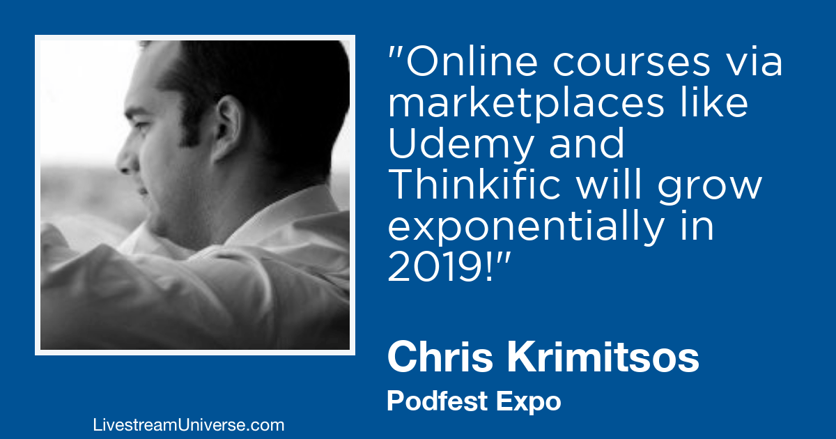 chris krimitsos podfest livestream universe 2019 prediction