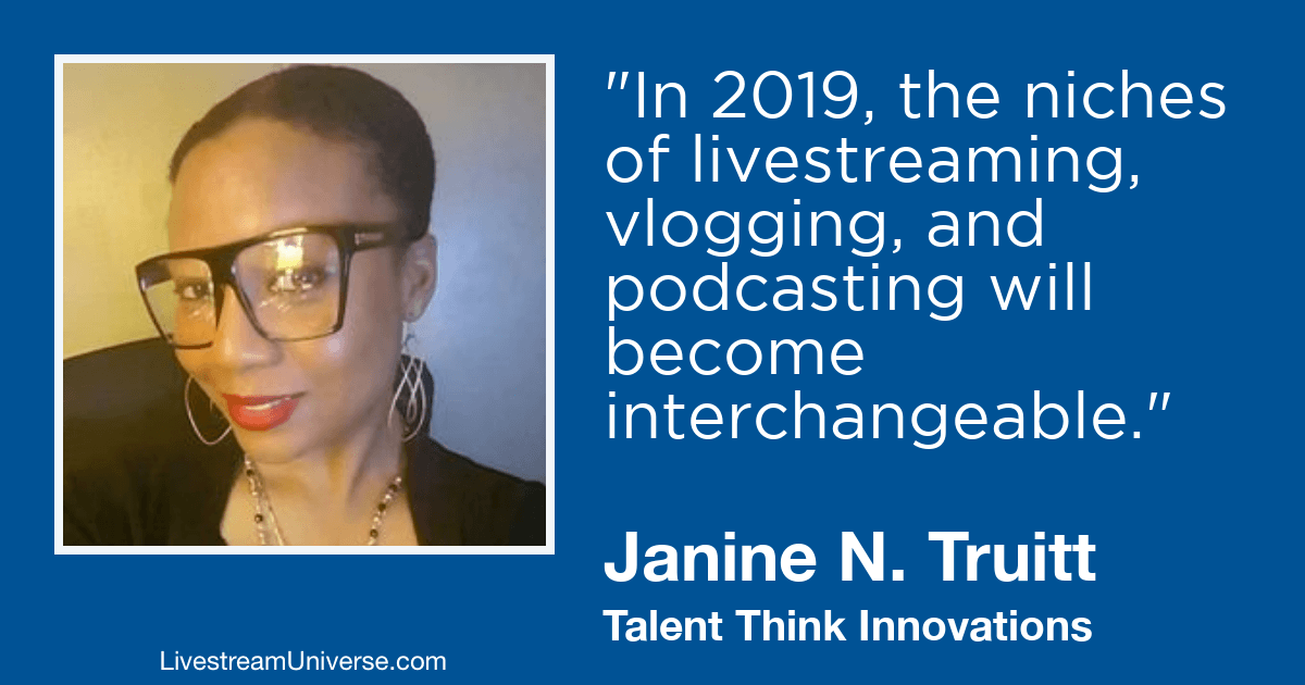 janine truitt livestream universe 2019 prediction