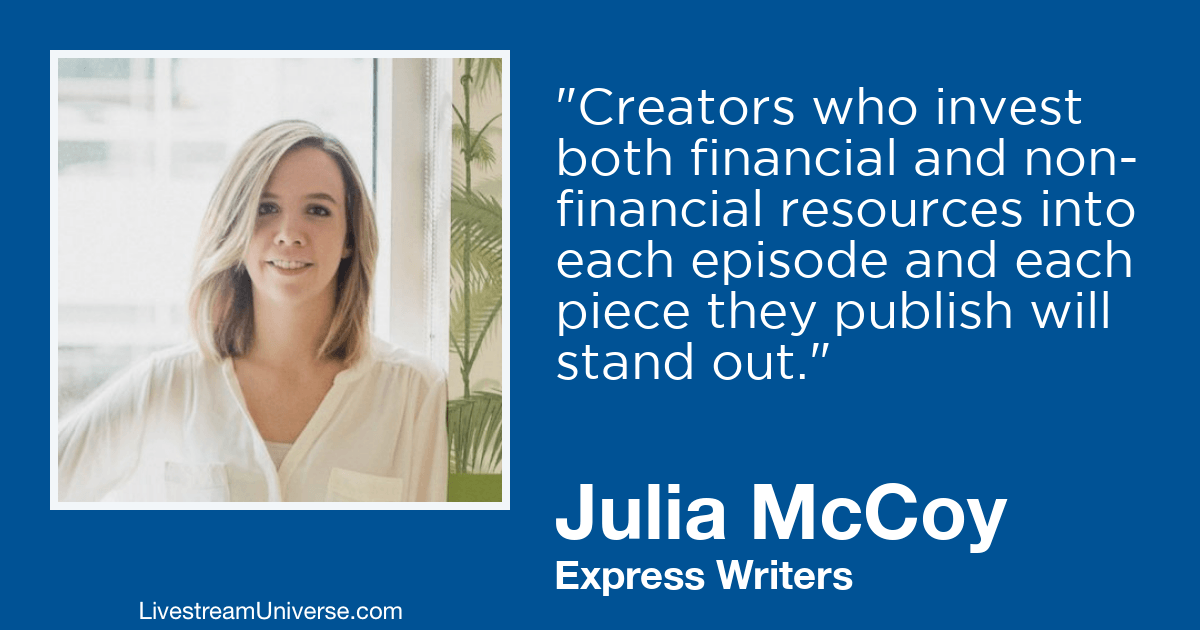 julia mccoy express writers livestream universe 2019 prediction