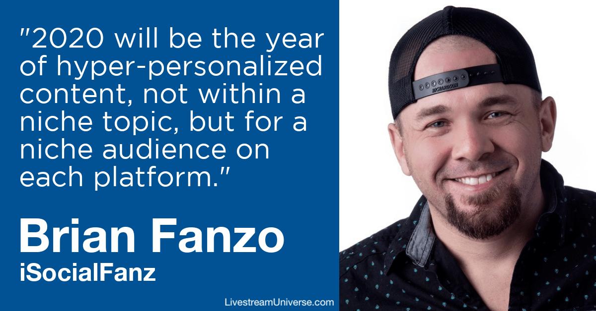Brian Fanzo isocialfanz Livestream Universe Predictions 2020