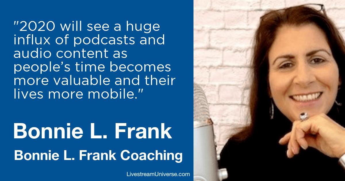 bonnie frank coaching livestream universe prediction 2020