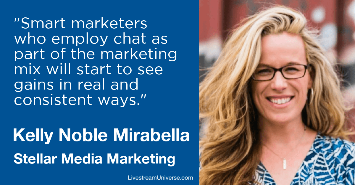 kelly noble mirabelle chat marketing livestream universe predictions 2020