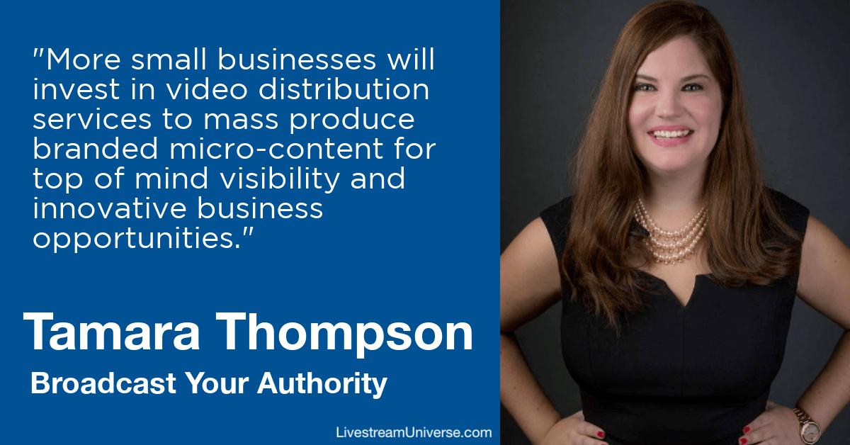 tamara thompson broadcast your authority livestream universe predictions 2020
