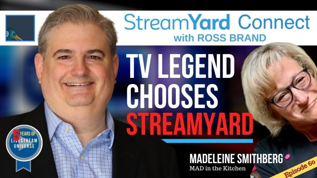 madeleine smithberg MAD in the kitchen streamyard connect with ross brand ep60