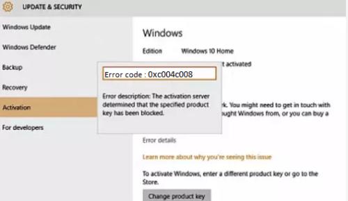 Error 0xc004c008