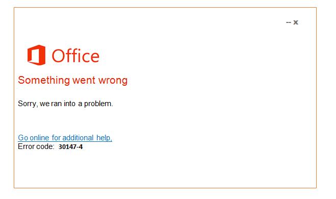 Error 30147-4