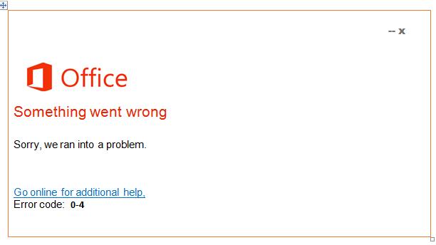 Error 0-4
