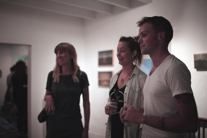 Walters and friends at the MoMo opening
