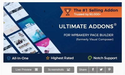 Latest Ultimate Addons for WPBakery WordPress Page Builder Free Download