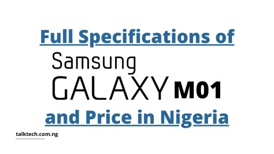 Full Specifications of Samsung Galaxy M01 and Price in Nigeria