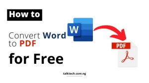 How to Easily Convert Word Documents to PDF for Free