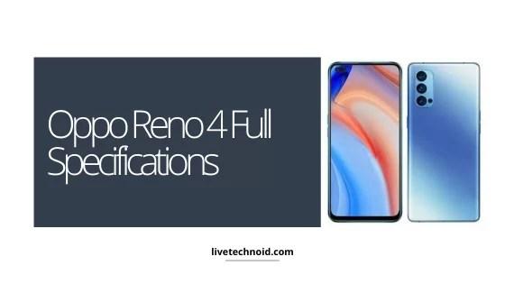 Oppo Reno 4 Full Specifications