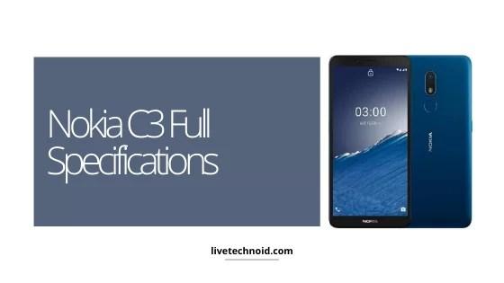 Nokia C3 Full Specifications