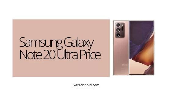 Samsung Galaxy Note 20 Ultra Price