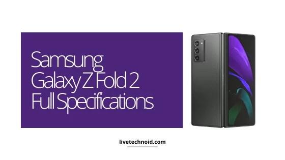 Samsung Galaxy Z Fold 2 Full Specifications