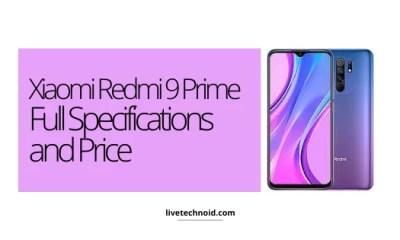 Xiaomi Redmi 9 Prime Full Specifications and Price