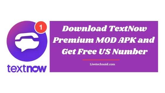 Download TextNow Premium MOD APK and Get Free US Number