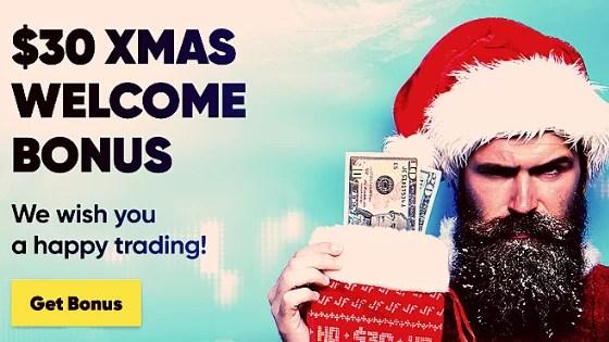 How to Get $30 Free Non-Deposit Christmas Bonus on JustForex