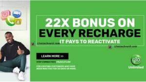 How to Get 22 Times Reward on Glo 22X Tariff Plan
