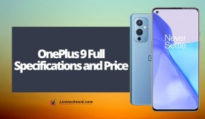 OnePlus 9 Full Specifications and Price
