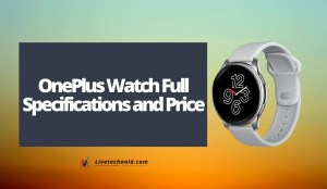OnePlus Watch Full Specifications and Price
