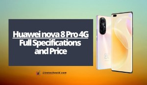 Huawei nova 8 Pro 4G Full Specifications and Price