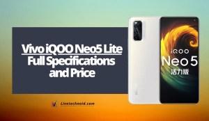 Vivo iQOO Neo5 Lite Full Specifications and Price