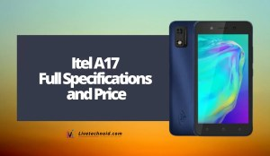 Itel A17 Full Specifications and Price