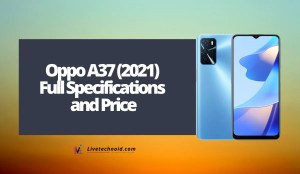 Oppo A37 (2021) Full Specifications and Price