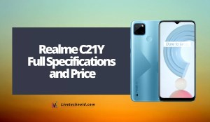 Realme C21Y Full Specifications and Price