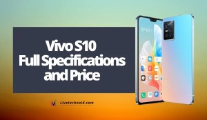 Vivo S10 Full Specifications and Price