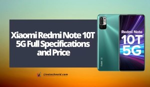 Xiaomi Redmi Note 10T 5G Full Specifications and Price