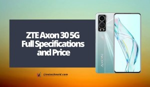 ZTE Axon 30 5G Full Specifications and Price
